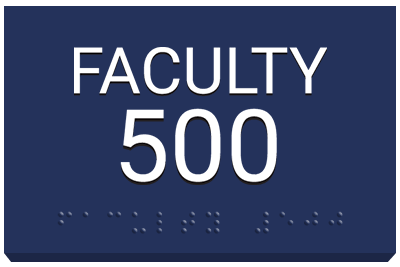 ASA Signs for schools Faculty 500