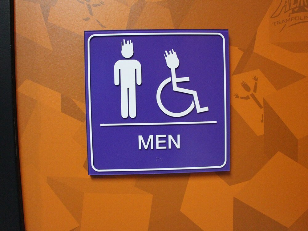 Altitudes Mens Restroom ADA Sign
