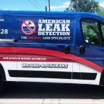 American Leak Detection Passenger Side Vehicle Wrap