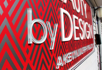Beauty by Design Close Up Exterior Retail Sign