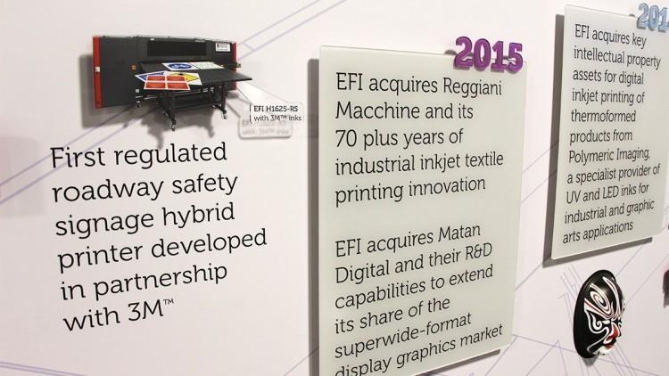 EFI Vinyl Banner Acrylic Cut-out reception signage