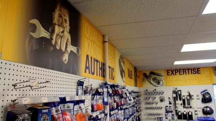 interior retail signs Sanel NAPA