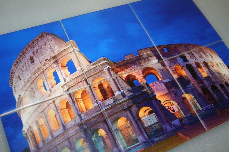 wrapped canvas frames - coliseum print
