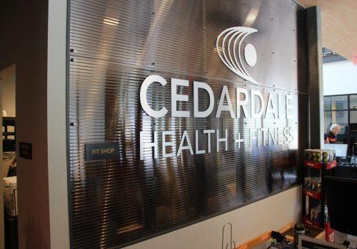 Cedardale Fit Shop Wayfinding Signage