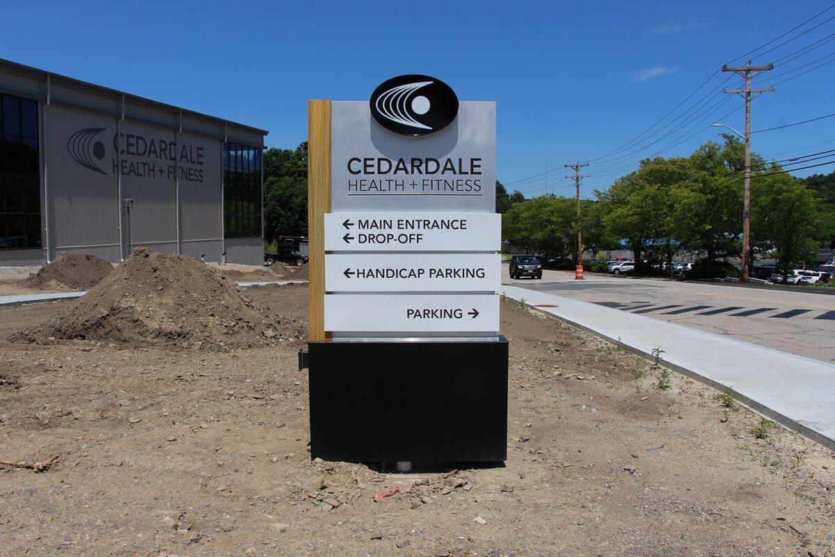 Pylon signage exterior commercial signage