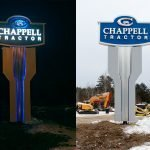 Chappell Tractor Pylon Exterior Retail Signage