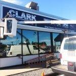 Clark Sign Installation