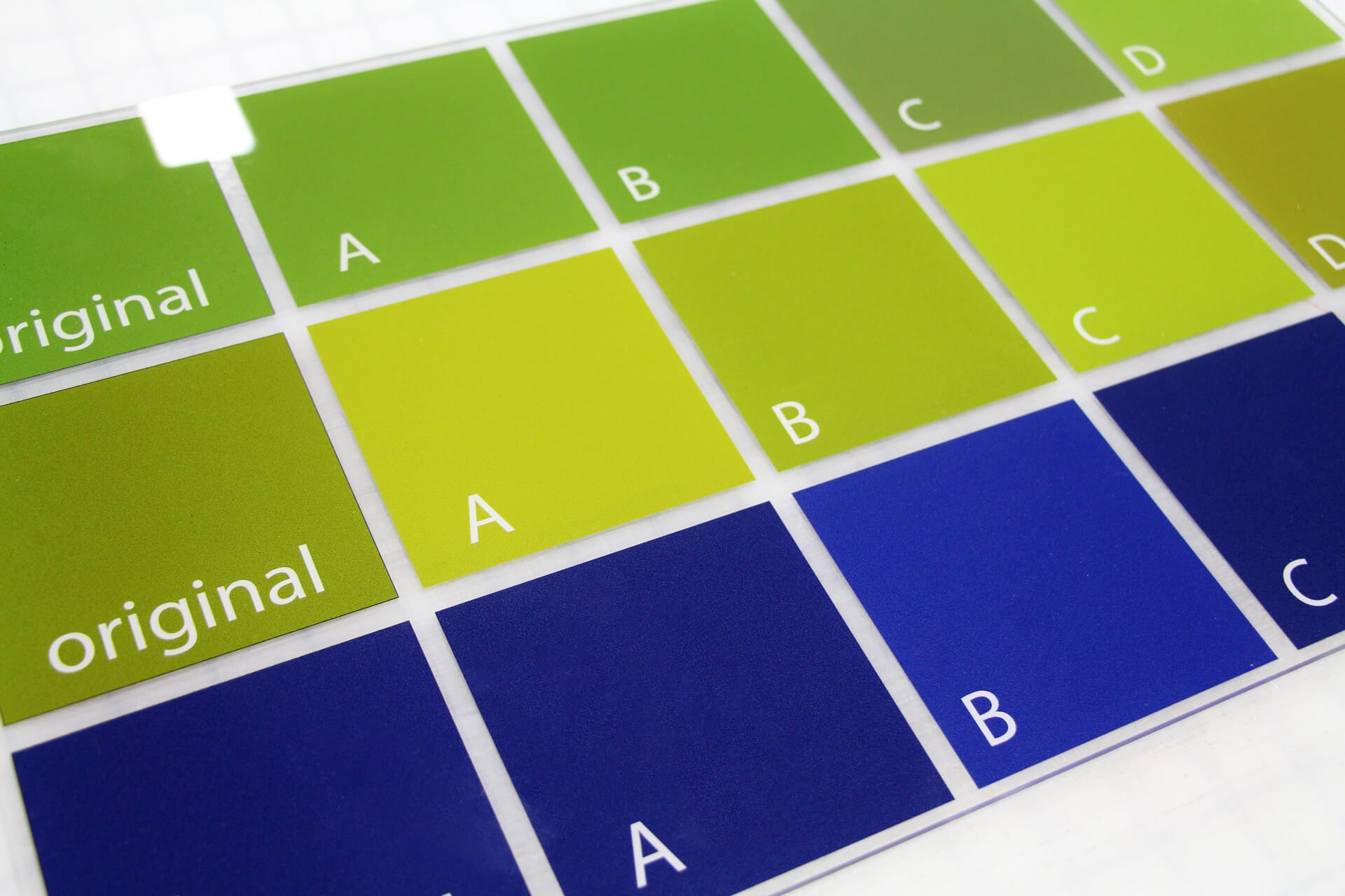 printed color swatches for surge sign by print nh