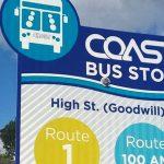 COAST bus stop signage