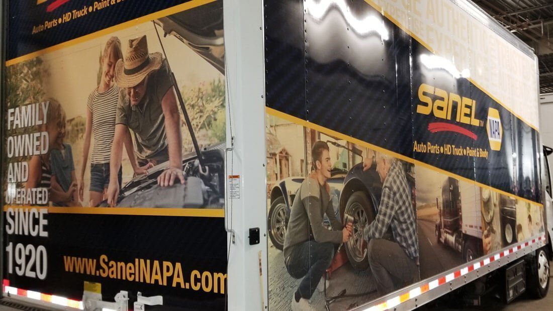 Sanel NAPA Box Truck Vehicle wrap