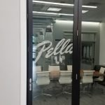 Pella interior commercial signage window graphic