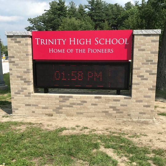 Electronic Message Signs - Trinity High School Sign
