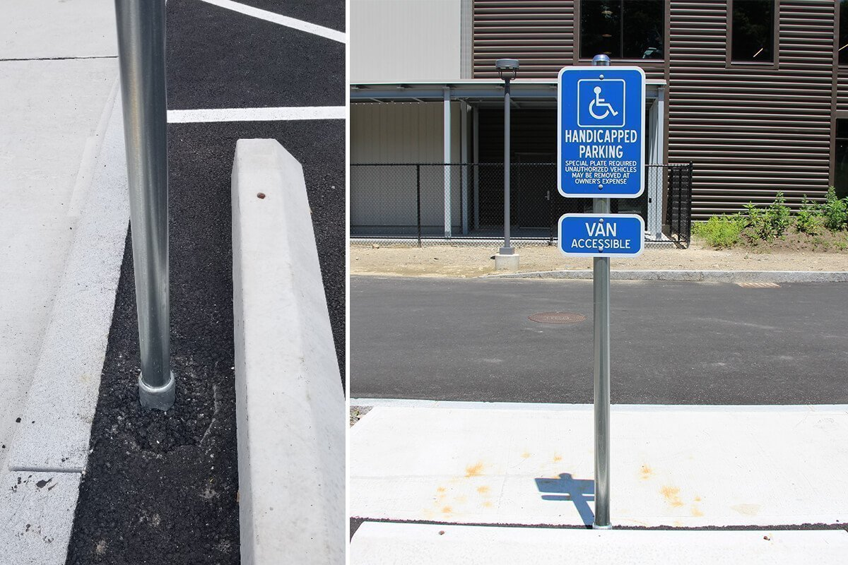 Parking Sign with Dibond and manufactured post