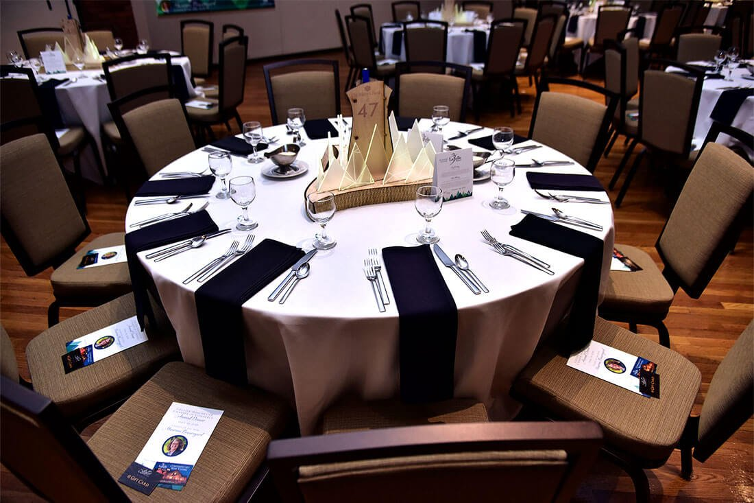 Greater Manchester Chamber of Commerce Citizen of the Year Event Table Set up 2018