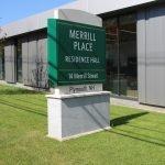 Granite Monument Signage Merill Place Wayfinding Signage