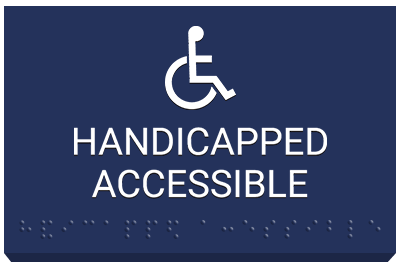 ADA Handicapped Accessible sign with braille