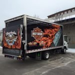 Harley Davidson Box Truck Vehicle Wrap