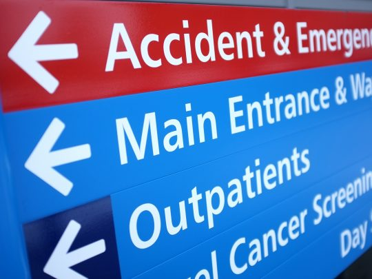 Healthcare Wayfinding Signage - Emergency Room Sign