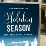 Holiday Retail Signage