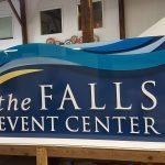 the falls center horizontal print nh sign