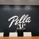 Pella interior commercial signage custom cut