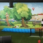 Dog Mural interior retail signage wall graphic
