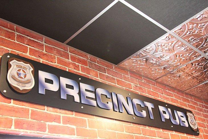 Pizza 911 Interior Precinct Pub Graphic