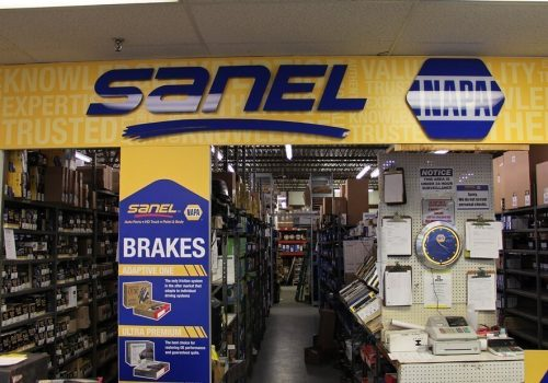 Sanel NAPA interior retail logo signage