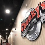 Chunky's interior retail signage custom cut sign