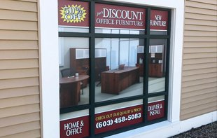 joes furniture window graphic