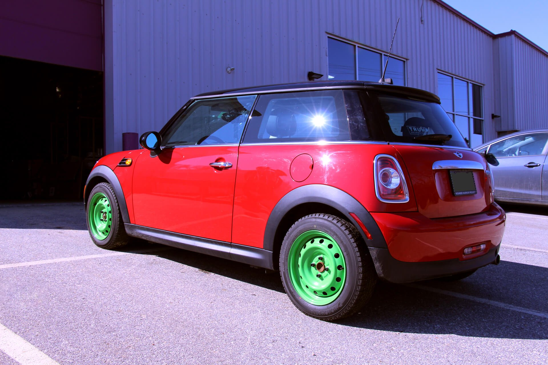 mini cooper before left rear