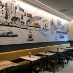 Mainely Burgers Interior Wall Vinyl Wrap