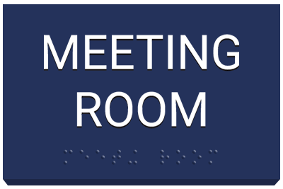 ADA Office Signs Meeting Room with braille