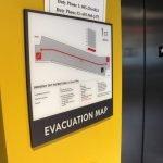 merrill place evacuation map interior wayfinding signage