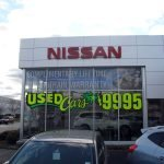 Nissan Car Dealership Window Graphics