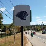 Plymouth State Campus Back Exterior Commercial Signage