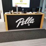 Pella front desk interior commercial reception signage