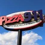 Pizza 911 exterior retail signage pylon installment