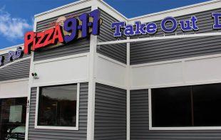 Pizza 911 Exterior Building signage