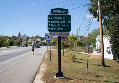 Educational and Campus Wayfinding Signage at Plymouth State