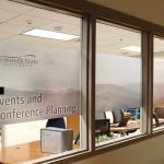 plymouth state window wrap interior commercial signage