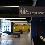 ADA wayfinding restroom sign