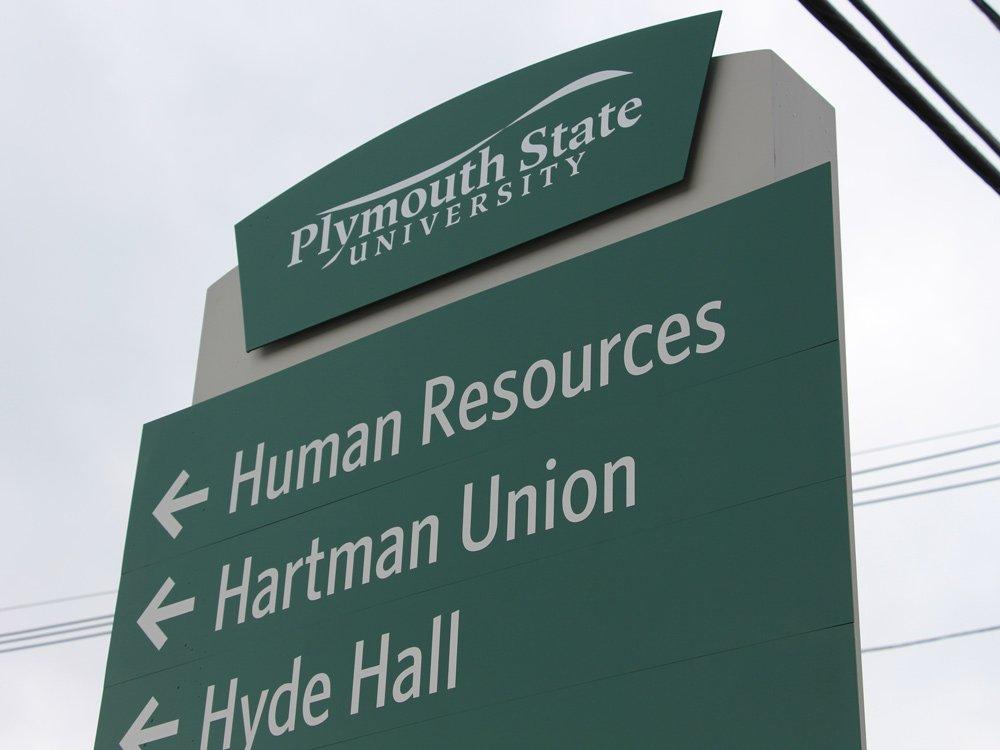 Plymouth State University wayfinding signage
