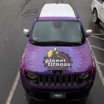 Planet Fitness Jeep Vinyl Vehicle Wrap front