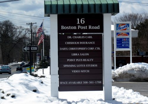 POST & PANEL SIGNS - Boston Post Road