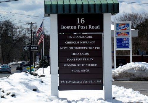 POST & PANEL SIGNS - Boston Post Road