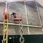 Proctor Academy Gymnasium Vinyl Banner Installation