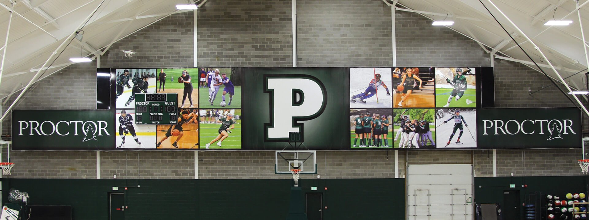 Proctor Academy Interior signage vinyl banner