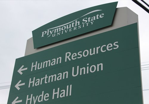 Plymouth State University Exterior Campus Wayfinding Signage