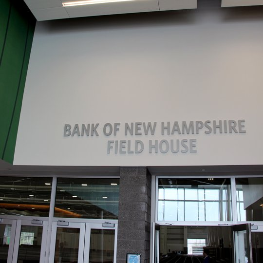 Sports Venue Wayfinding Signage - Plymouth State University Field House